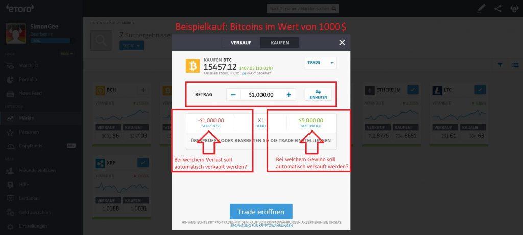 bitcoin wie kaufen